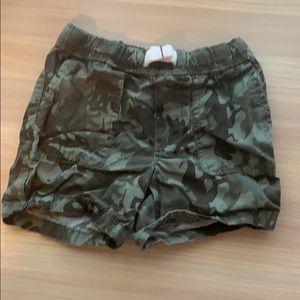 Carters camo shorts